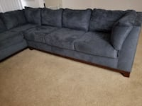 gray suede sectional couch Columbia, 21044