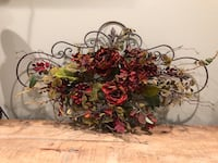Iron floral wall piece
