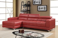 red leather sectional sofa with coffee table Houston, 77075