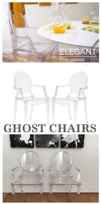 New CRYSTAL CLEAR MODERN GHOST CHAIRS (set of 2) Las Vegas, 89178