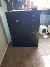 Black Wardrobe and drawers