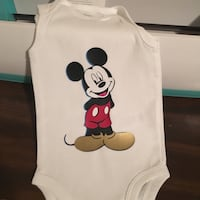 white Mickey Mouse print tank top Tracy, 95376