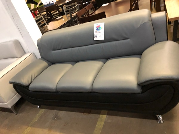 Modern Bonded Leather Sofa Love Seat