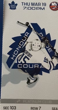 Toronto Maple Leaf tickets PLATINUM SEATS selling way below face value.  Vaughan, ON, Canada