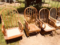 two brown wooden rocking chairs Price, 84501