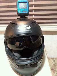 Kabuta motorcycle helmet and camera