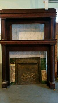 Antique walnut mantel  Corinth, 12822