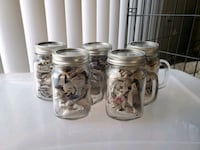 Set of 5 glass drinking Mason jars with lids Fort Meade, 20755