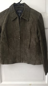 Suade / leather green jacket
