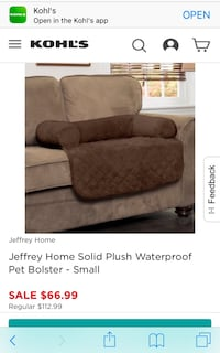 New w Tags! Dog Bolster Couch Bed Hanford, 93230