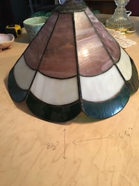 Tiffany Lamp shade stained glass. Handcrafted.