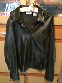 black leather zip-up jacket Oakville, L6L 1K6