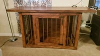 Handmade wooden dog crate Norfolk