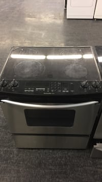 black and gray induction range oven Toronto, M3J 3K7