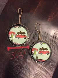 Rustic mason jar lid Christmas tree ornaments $4 each Belleville, K8N 0B9
