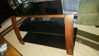 rectangular black wooden coffee table 76 km