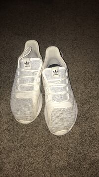 pair of white Adidas low-top sneakers Langley