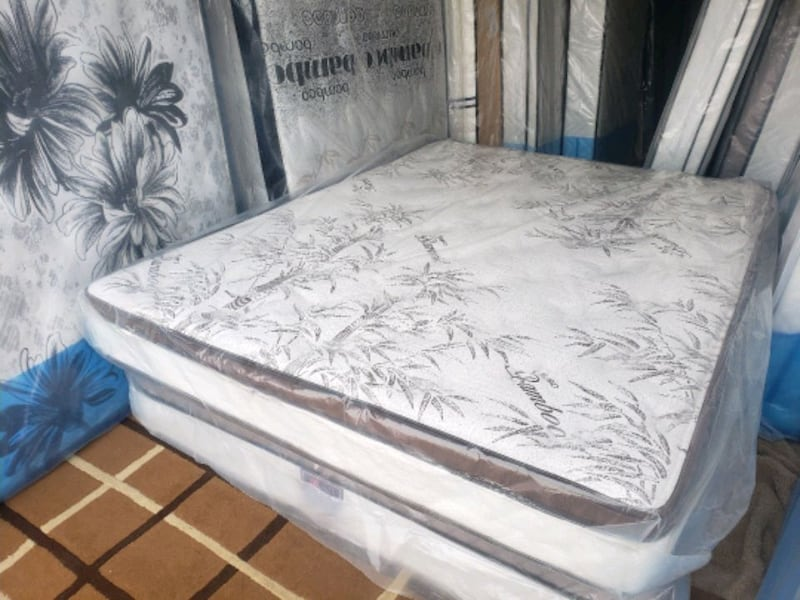 New queen mattress pillowtop+ box 360 Eurotop 420delivery 40 3
