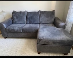 Couch with pull out bed and Queen Mattress