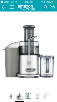 Gray breville power juicer fountain plus
