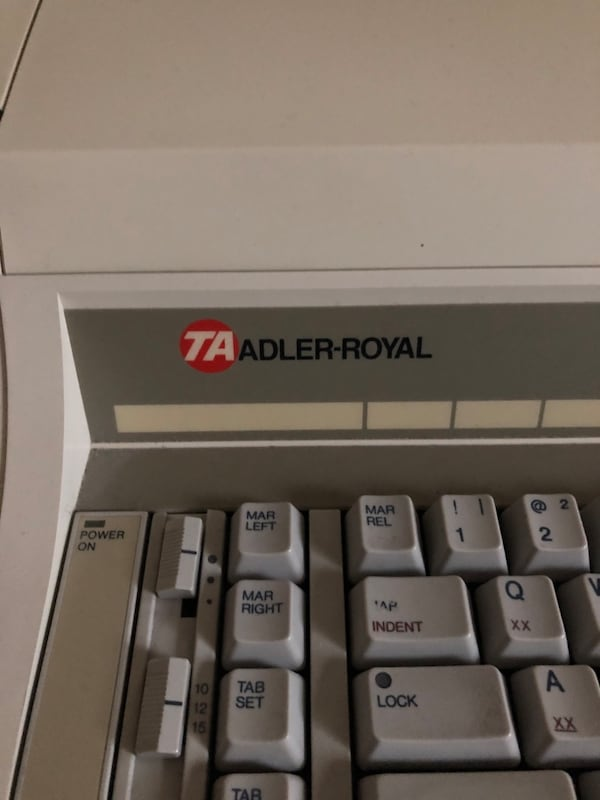 TA Adler Royal Typewriter 1