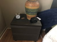 Black and brown wooden nightstand  Fort Worth, 76104