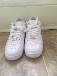 All white Air Force 1's