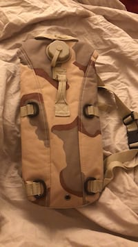 Brown and black camouflage hydration pack Silver Spring, 20906