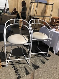 2 Vintage Metal Barstools Los Angeles