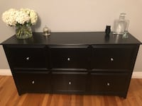 Black wood, 6-drawer filing cabinet/credenza Culver City