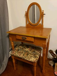 Antique Vanity Desk and Stool