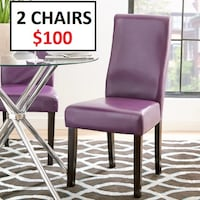 2 pcs Curved-Back Dining Chairs