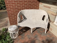 Wicker Love Seat and Side Table Markham, L3T 3L5