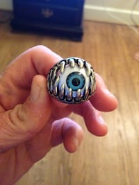 Eyeball Jaw Ring Size 10.  Stainless Steel Arlington, 22203