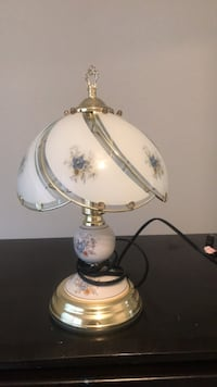 white and brown table lamp Cary, 27513