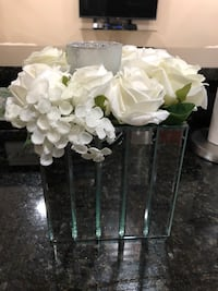 Mirror glass flower centerpiece 224 mi