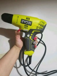 yellow and black DeWalt corded power drill Port Coquitlam, V3C 1W4