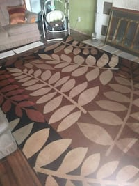 brown and white floral area rug Spokane Valley, 99212