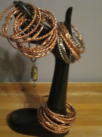 GORGEOUS HANDCRAFTED COPPER/SILVER BRACELETS.. CALGARY