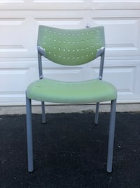 """Keilhauer Lime Green """"Also"""" Stackable Office/Indoor Chair 11 Available $9 Each"""