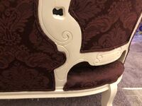 Burgundy and gardenia wooden armchair and couch Bluffton, 29910