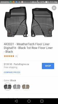 Weather Tech Front Taurus 2010-18 $60