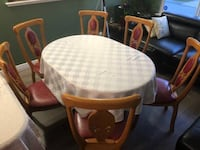 Dining table with 6 chairs New Westminster, V3M 5X7