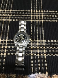 Round silver-colored chronograph watch with link bracelet Hanover, 17331