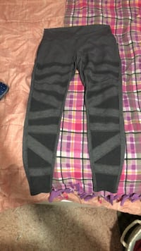 Black and grey striped lulu leggings, worn once, size 12  Peterborough, K9H