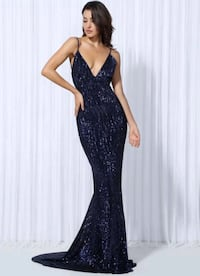 Blue sequin evening gown  Mississauga, L5L 5T6
