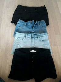 svart denim korte shorts og hvite denim shorts Porsgrunn, 3925