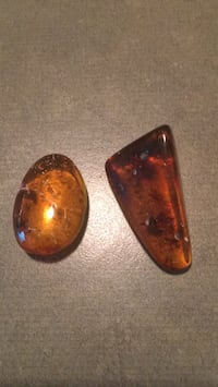 Amber stones $20 each or both for $35