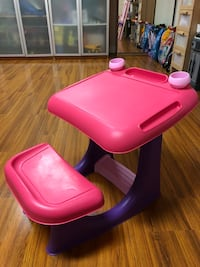 toddler's pink and purple plastic chair Toronto, M6B 2A6