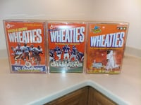 Empty Wheaties boxes in plastic cases  Lorton